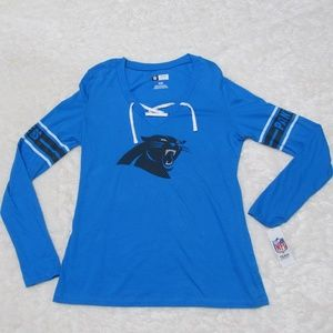 NFL Carolina Panthers Lace Up Long Sleeve Size M